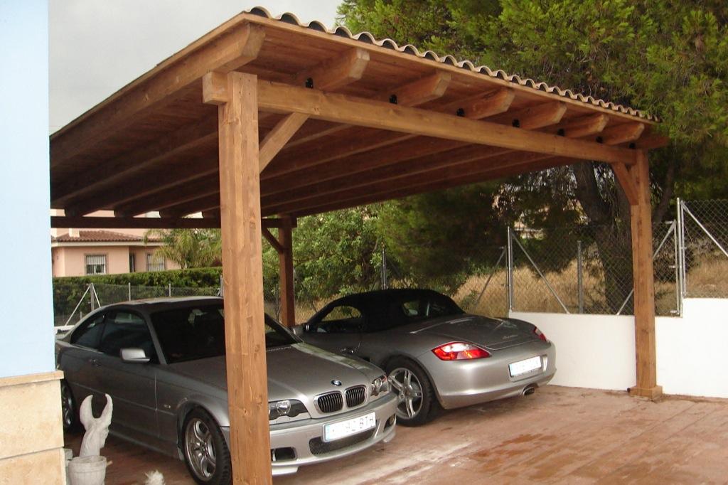P rgolas a 1 agua incofusta fabrica de madera en valencia - Pergolas para garajes ...