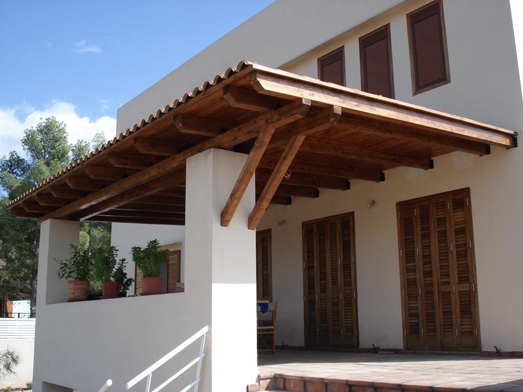 P rgolas porches y cenadores incofusta fabrica de madera en valencia - Pergolas y porches de madera ...