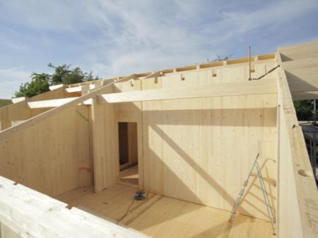 Construcci n y montaje de casas de madera incofusta for Imagenes de tejados de madera