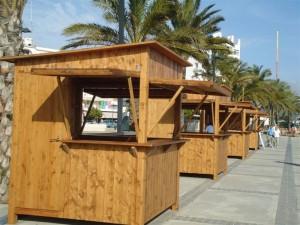 Chiringuitos casetas y kioscos de madera incofusta for Bar movil de madera