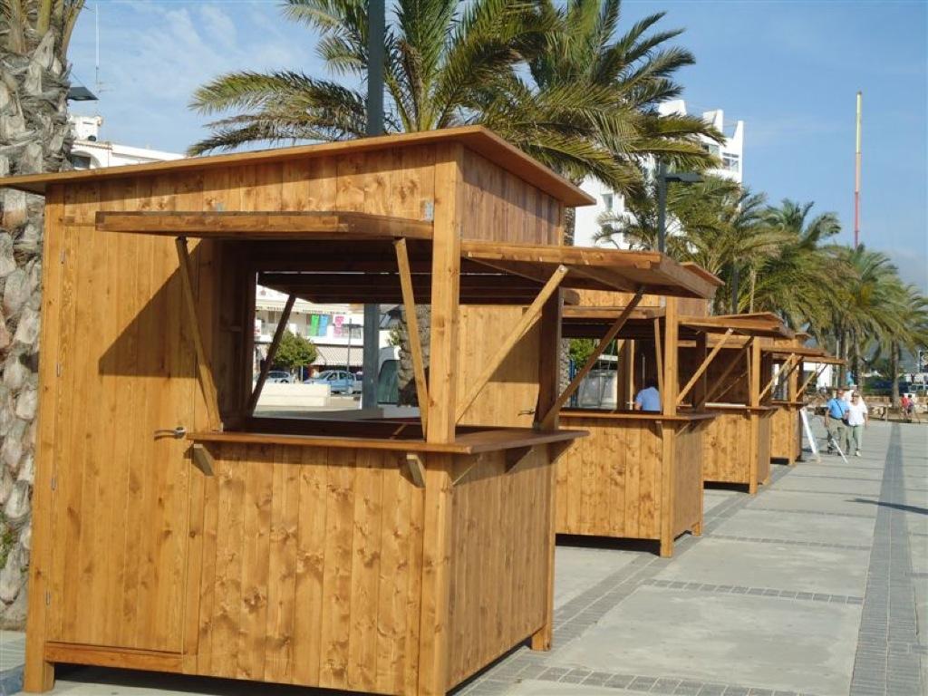Chiringuitos casetas y kioscos de madera incofusta for Como fabricar un kiosco de madera