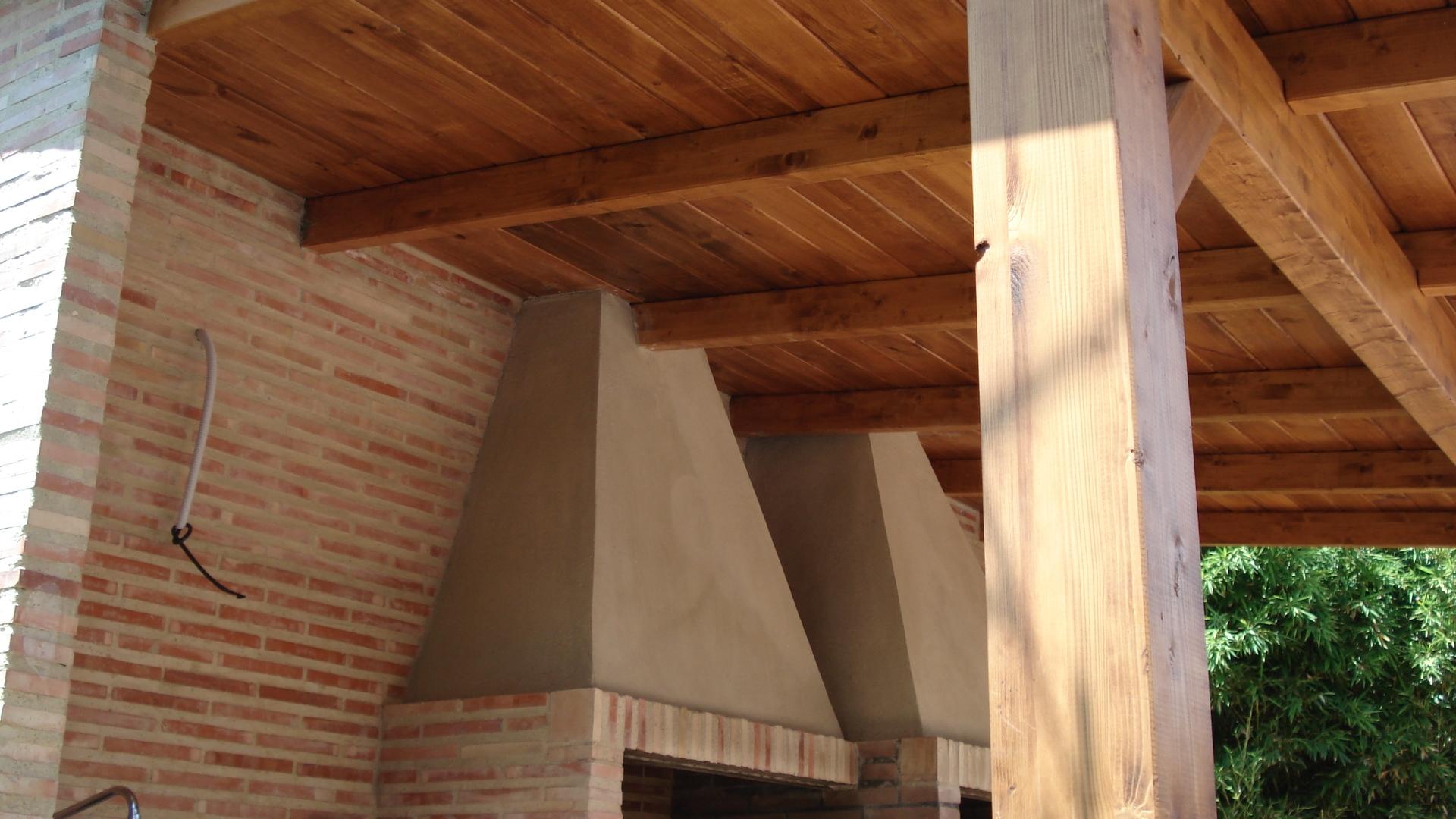 P rgolas de madera adosadas incofusta fabrica de madera - Forrar pared de madera ...