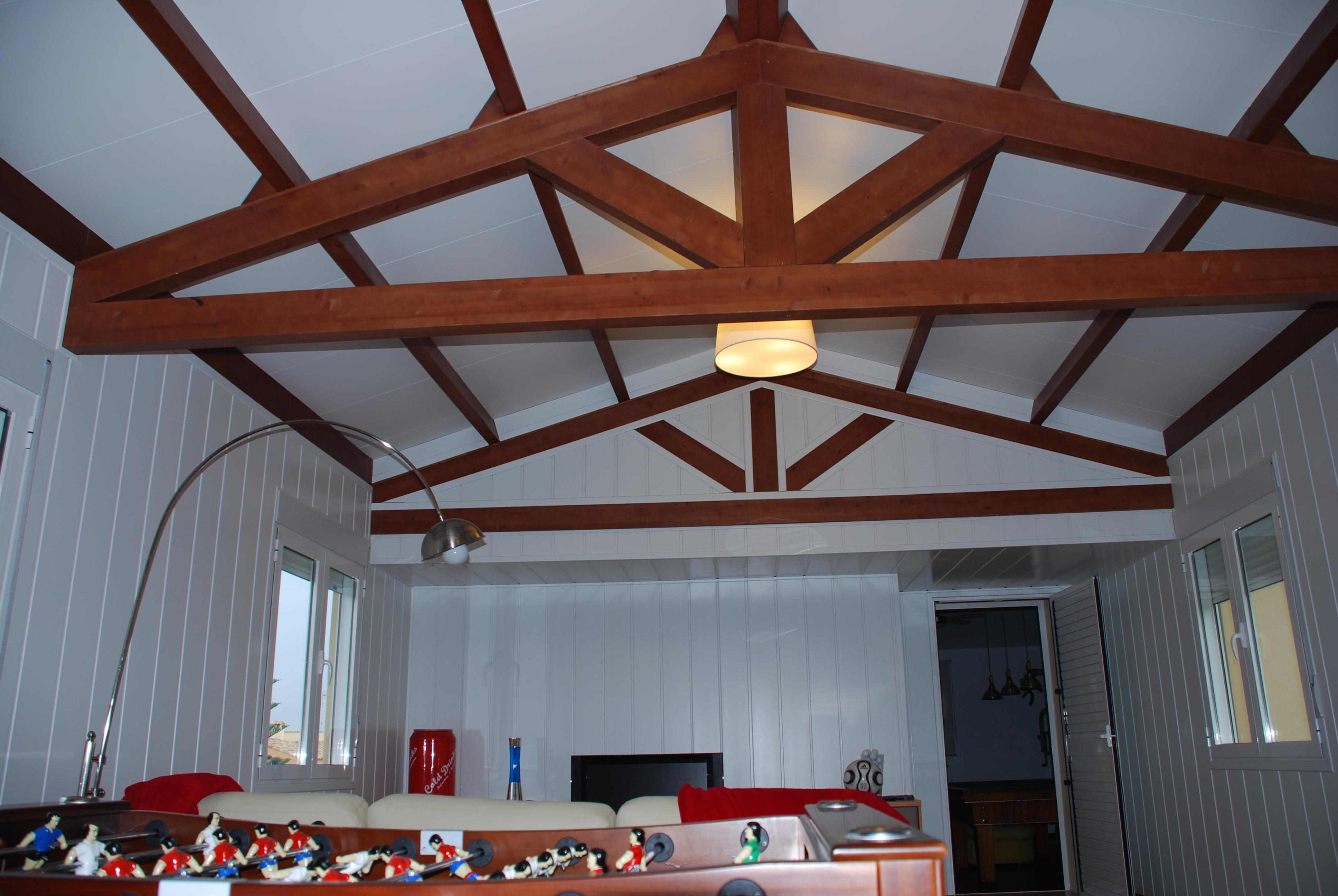 Acabados en cubiertas de madera incofusta fabrica de - Cubiertas de madera para tejados ...