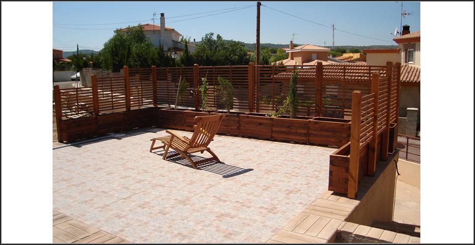 Muebles de exterior de madera incofusta - Madera tratada para exterior ...