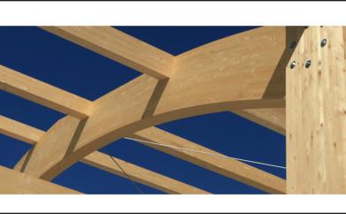 Madera laminada vigas de madera y panel contralaminado - Vigas poliuretano baratas ...