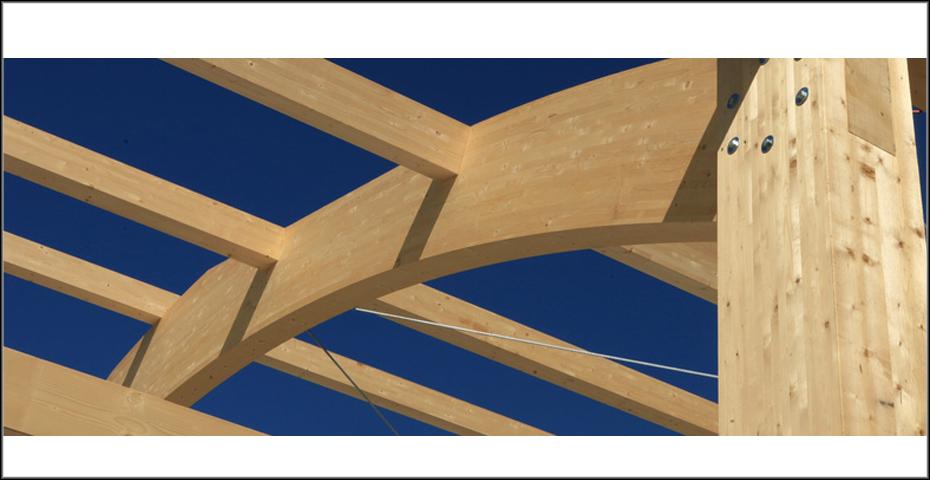 El alma de la casa las vigas de madera laminada incofusta - Casas de madera laminada ...