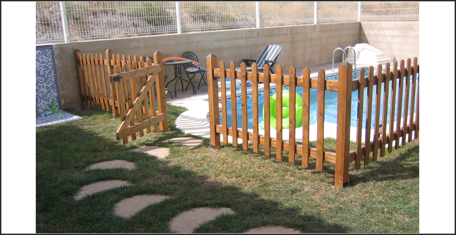 Vallas decorativas para jardin seto artificial madrid - Vallas de madera para jardin ...