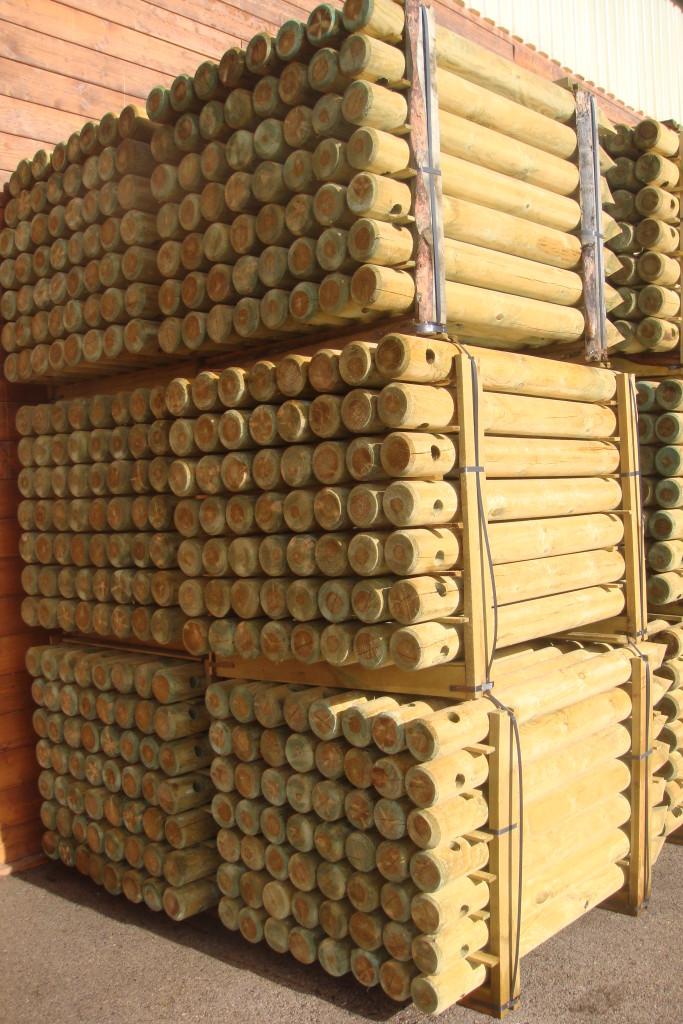 Postes de madera tratada incofusta fabrica de madera en - Fabricas de madera ...