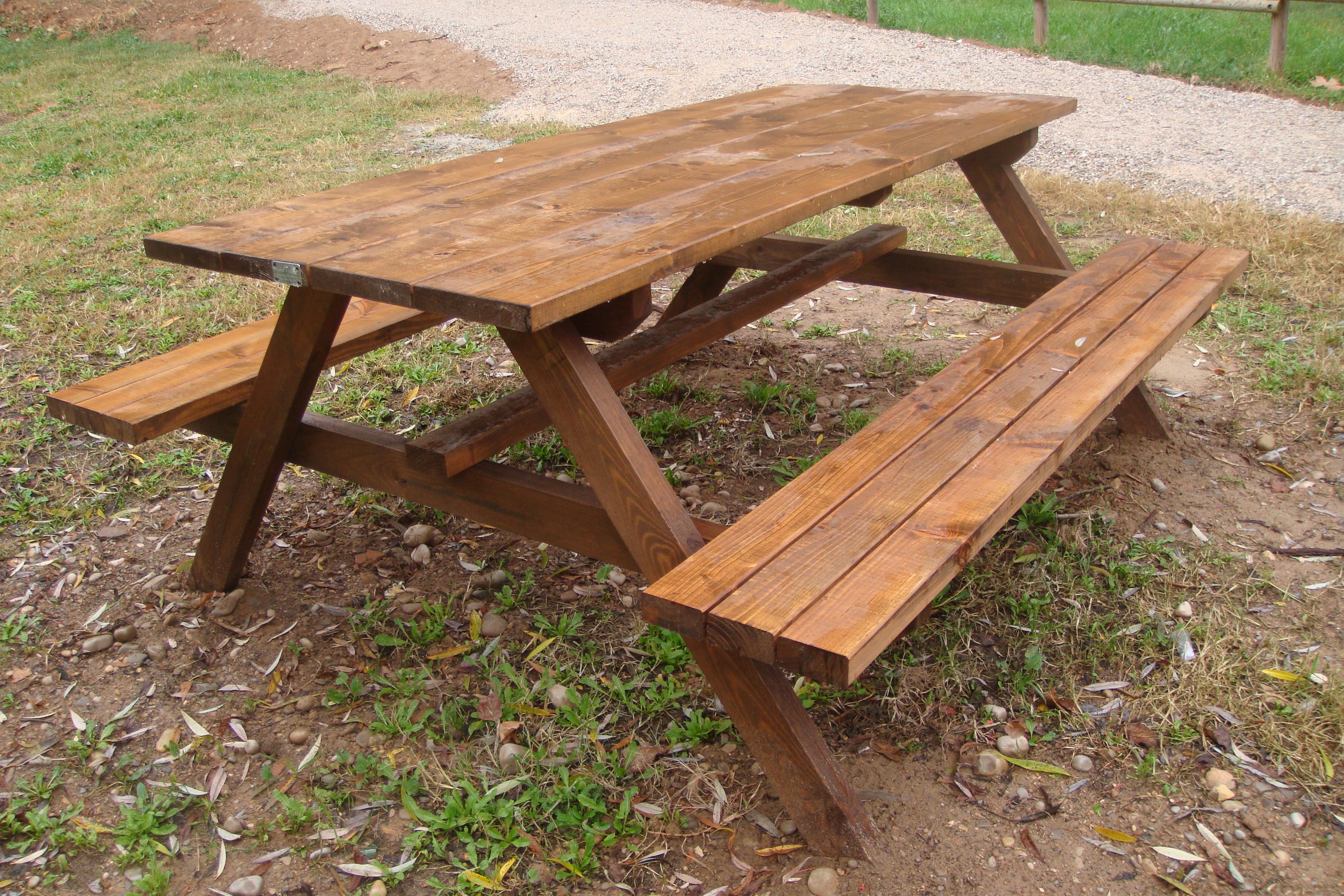Mesas de picnic incofusta fabrica de madera en valencia for Mesa de picnic madera