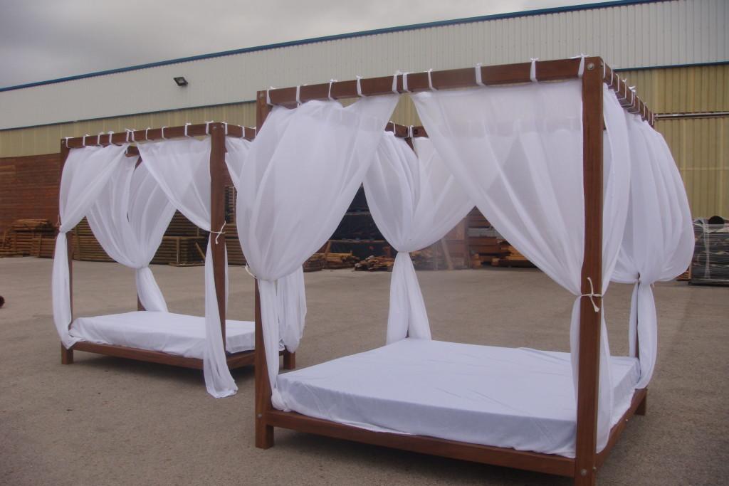 Camas chill out o camas balinesas incofusta fabrica de for Camas balinesas para jardin