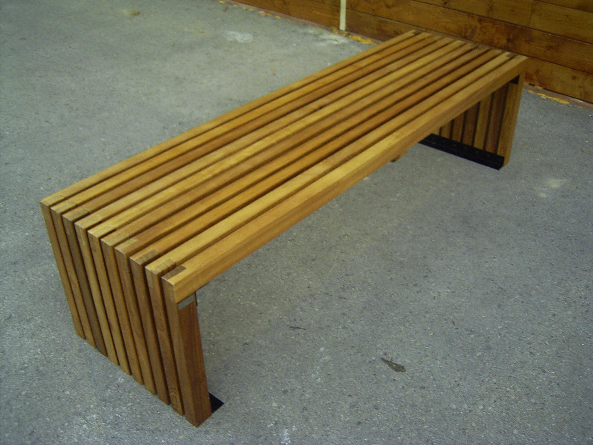 Bancos de madera incofusta fabrica de madera en valencia - Banco de madera ...