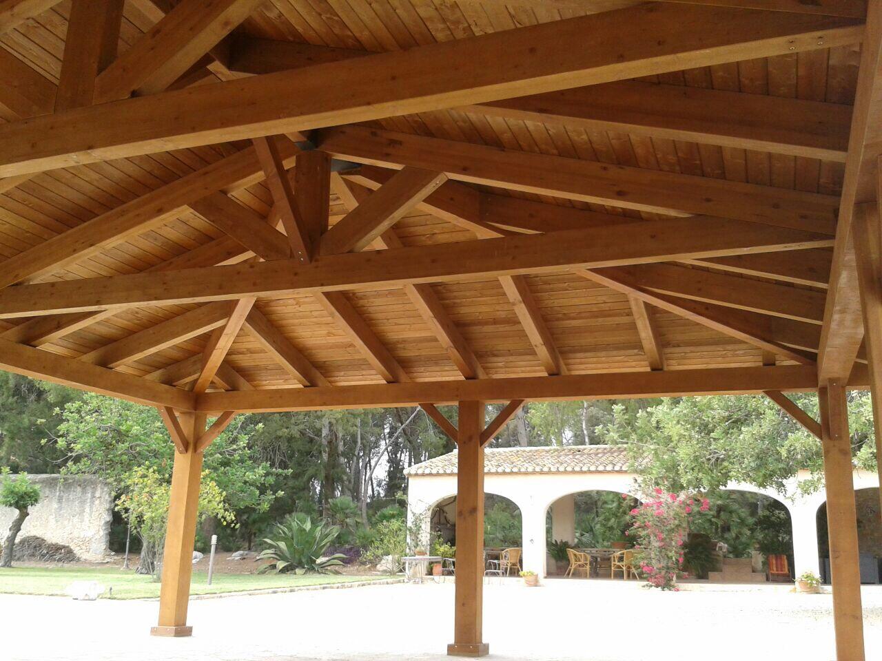 Tipos de p rgola de madera incofusta fabrica de madera - Pergolas de madera valencia ...